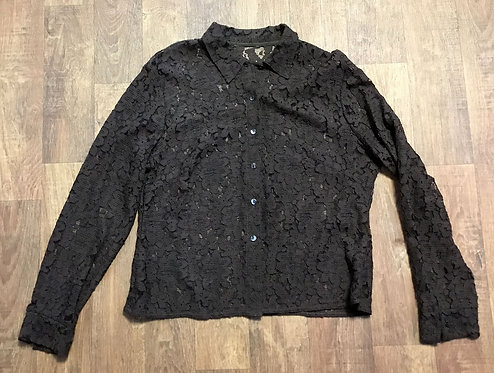 Vintage Blouse | Vintage Lace Shirt | Vintage Clothing | 80s Style