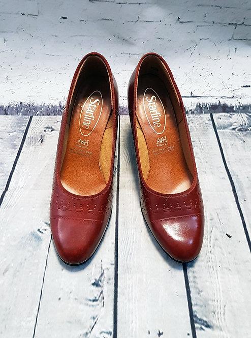 Vintage Shoes   1970s Shoes   Vintage Court Shoes   Tan Vintage Shoes