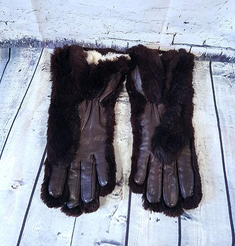Vintage Gloves | Fur Gloves | 1950s Gloves | 50s Accessories