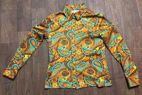 Vintage Blouse | 1970s Psychedelic Shirt | 70s Fashion | Retro Shirt