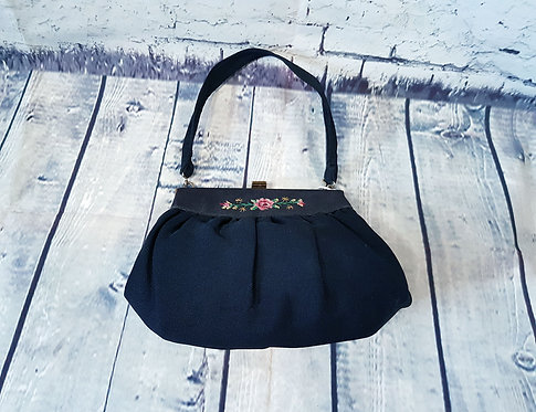 Vintage Evening Bag | 1930s Needlepoint Bag | 1930s Style | Eco Friendly