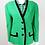 Thumbnail: 1980s Vintage Oleg Cassini Green Wool Jacket UK Size 14/16