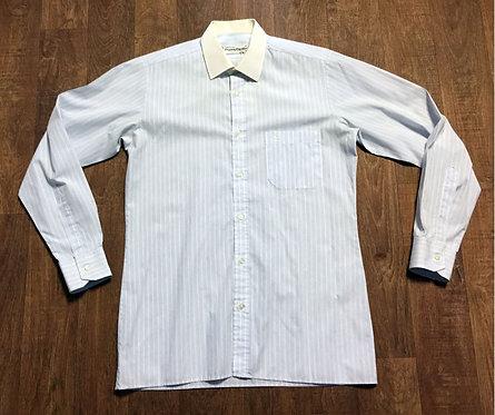 Mens Vintage Blue Pinstripe Pierre Cardin Shirt UK Size Medium