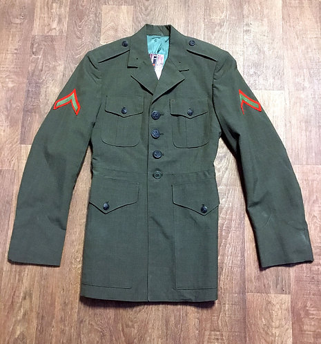 Mens Vintage Khaki Green Military Jacket/Blazer UK Size Small