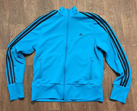 Vintage 1990s Blue/Teal Adidas Tracktop Size UK Size 10/12