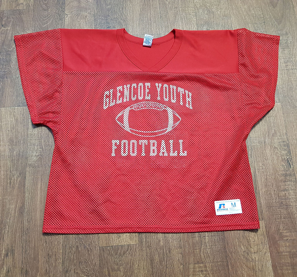 Retro Red Glencoe Youth Football Jersey/Top UK Size Medium