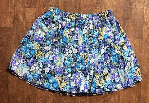 Vintage Skirt | 1980s Floral Skirt | Vintage Mini Skirts | 80s Style
