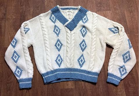 Vintage Jumper | Cable Knit Jumper | Retro Jumper | 80s Style
