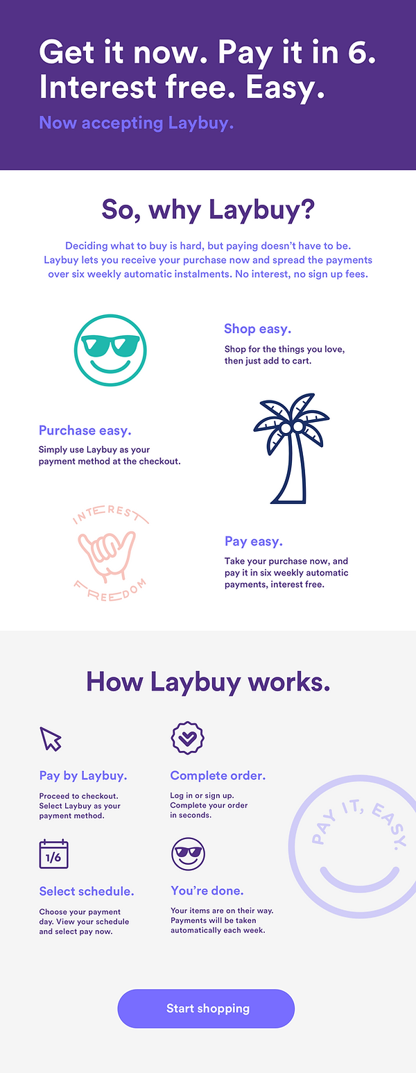 Pay in 6 with Laybuy | Spread payments over six weeks