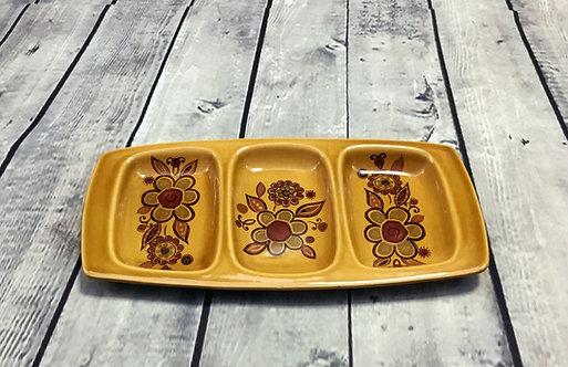 Vintage 1970s Royal Worcester Palissy Floral Dish | Vintage Homeware
