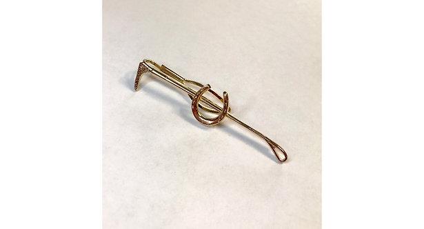 Vintage Stratton Equestrian Tie/Scarf Clip Horseshoe