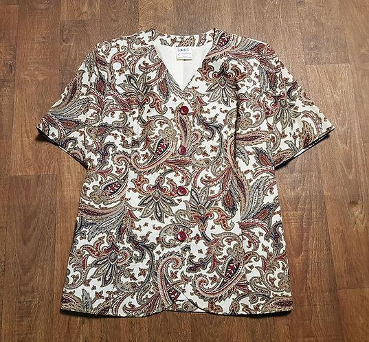 Vintage Blouse | Retro Paisley Blouse | Vintage Clothing | Retro Shop
