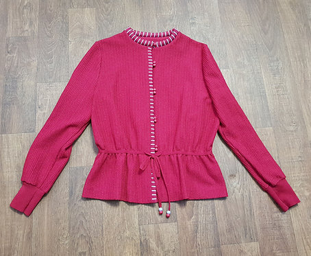 Vintage Cardigan   1980s Peplum Cardigan   Vintage Clothing   Vintage Fashion