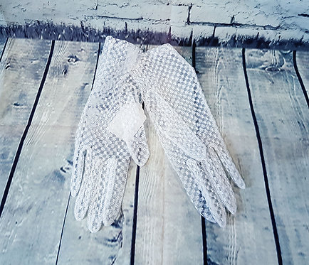 Vintage Gloves   Vintage Accessories   White Lace Gloves   Eco Friendly