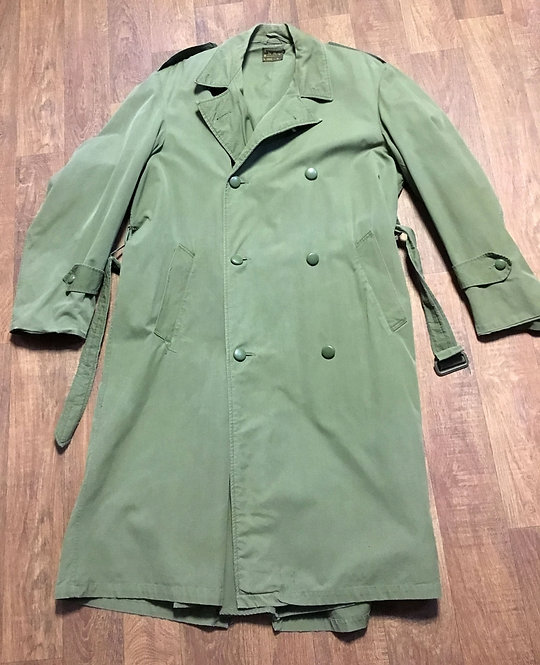 Mens 1950s Khaki Belgium Military Coat UK Size Large