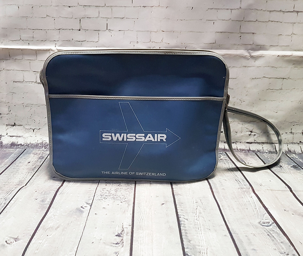 1960s Vintage Swissair Flight/Travel Bag