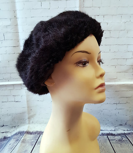 Vintage Hat | Faux Fur Hat | Retro Winter Hat | Vintage Shop