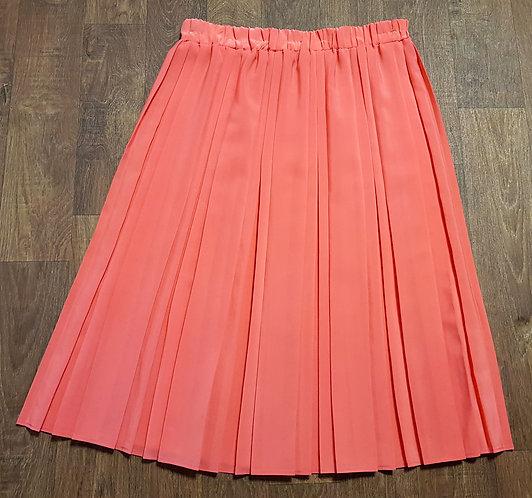 Vintage Skirt | 1980s Skirts | Vintage Coral Skirt | 80s Style