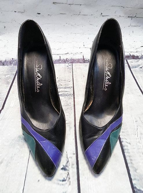 Vintage Zandra Rhodes Heels | 1980s Shoes | Designer Shoes | Second Hand