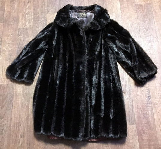 Vintage Coats | Simulated Fur Coat | 1960s Clothing | 60s Fashion