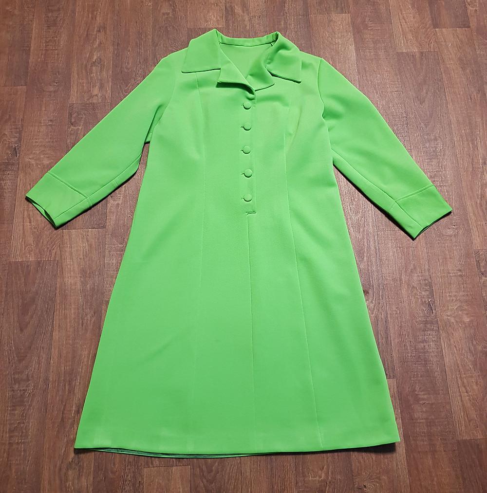 1960s Vintage Apple Green Mod Dress UK Size 14 £45