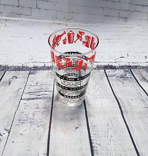 Vintage Cocktail Glass   1960s Barware   Vintage Collectables   Vintage Shop