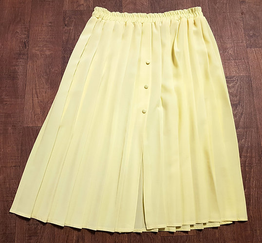 Vintage Skirt | Retro Skirts | 1980s Yellow Skirt | Vintage Clothing