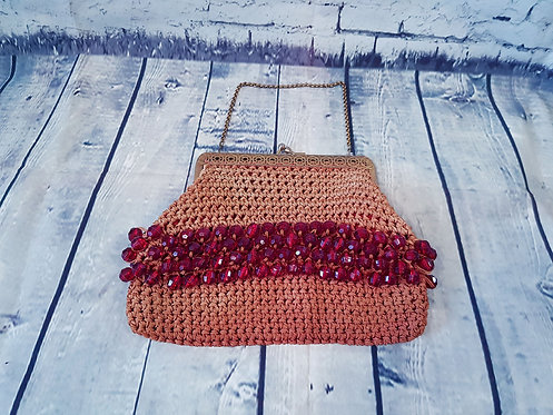 Vintage Evening Bag | 1940s Crochet Bag | 1940s Accessories | Unique Vintage