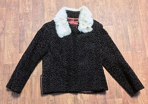 Vintage Astrakan Jacket | 1950s Astrakan Jacket | 50s Fashion | 1950s Clothing