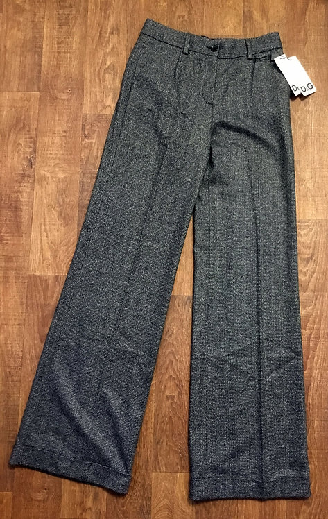 Vintage 1980s Grey Wool D&G Trousers UK Size 8/10
