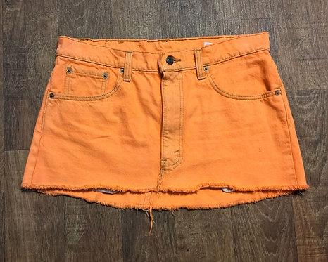 Vintage Mini Skirt   Levi's Skirt   Sustainable Fashion   80s Style