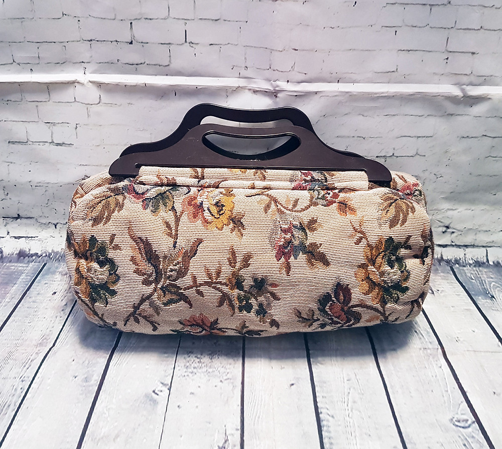 Vintage Large Tapestry Sewing/Knitting Bag