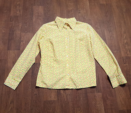 Vintage Shirt | 1970s Shirt | Vintage Clothing | Polka Dot Shirt