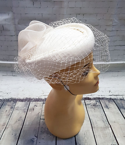 Vintage Hat | Pill-Box Hat | Vintage Wedding Hats | 80s Style