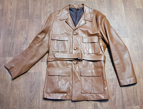 Mens Jacket | Vintage Leather Jacket | Mens Clothing | 70s Style