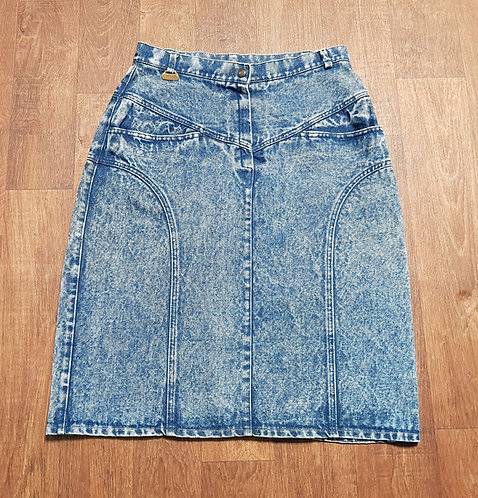 Vintage Skirts | 1980s Denim Skirt | Vintage Clothing | 1980s Fashion