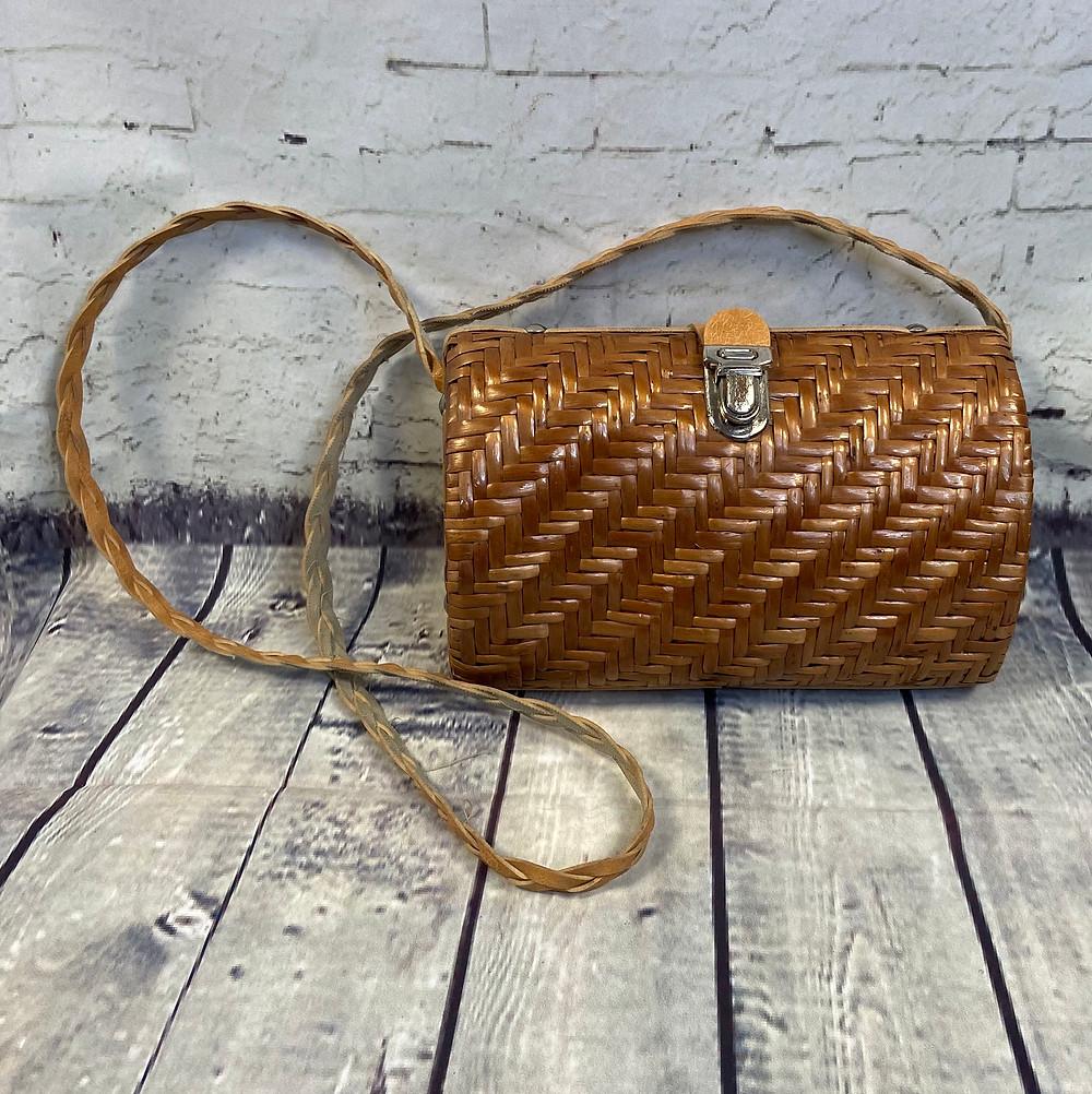 1960s Vintage Wicker/Basket Shoulder Bag