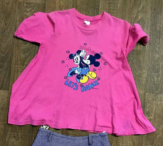 Vintage Tee | Vintage Mickey Minnie Mouse Tee | 80s Style | Second Hand