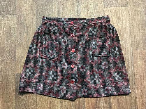 Vintage Mini Skirt | 1960s Skirt | Sustainable Fashion | Retro Skirt