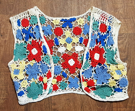 Vintage Crochet Bolero | 1970s Crochet Top | 70s Style | Vintage Clothing