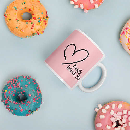 Pink Lonely Hearts Club Mug