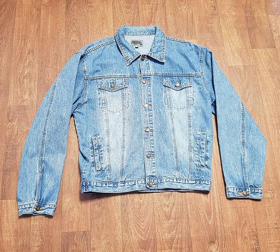 1980s Vintage Mid Wash Denim Jacket Freesize