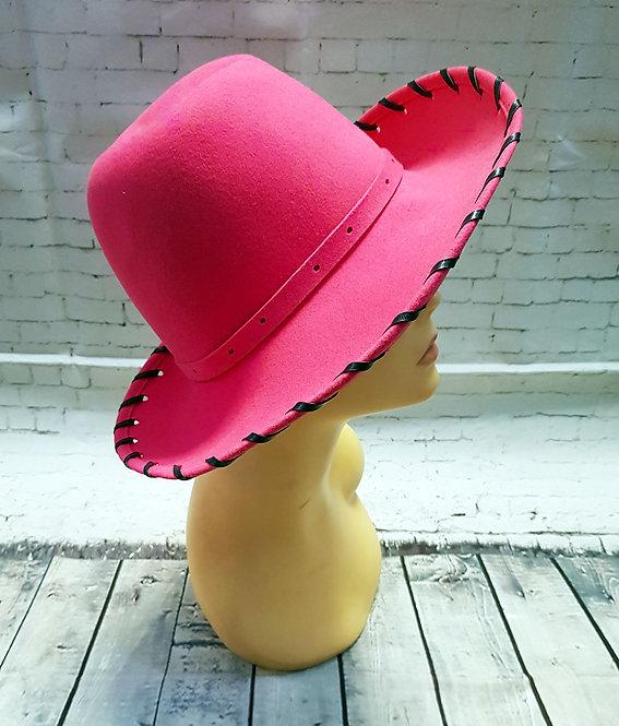 Vintage Hats | Fedora Style Hat | 1970s Pink Fedora Hat | Ladies Vintage Hat
