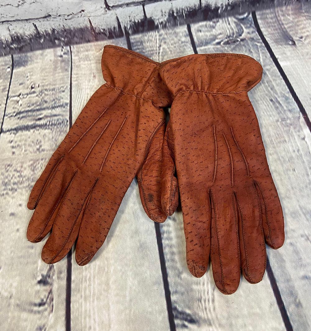 1960s Vintage Rich Tan Leather Gloves £20