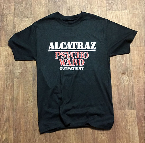 Vintage Alcatraz Psycho Ward Tee UK Size Small