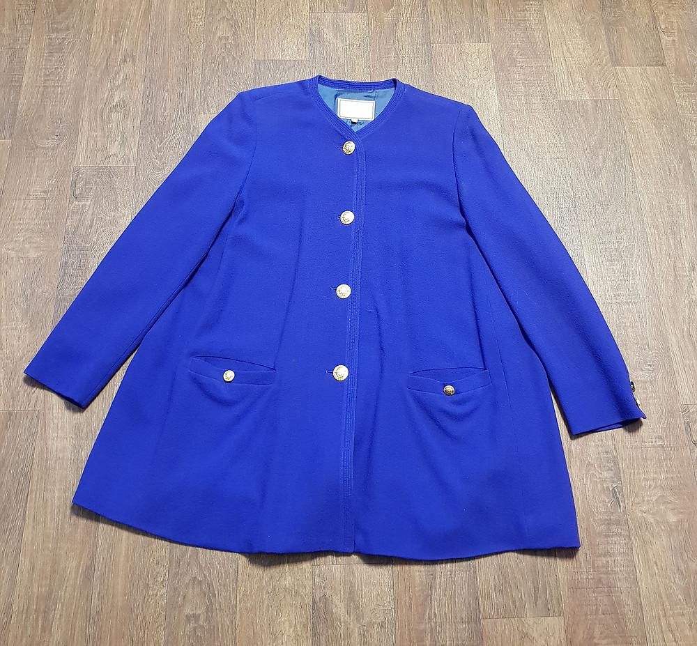 1980s Vintage Versace Purple Swing Jacket UK Size 14/16