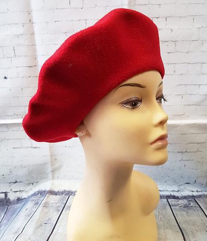 Vintage Beret | Red Kangol Beret | Unique Vintage | 1960s Fashion