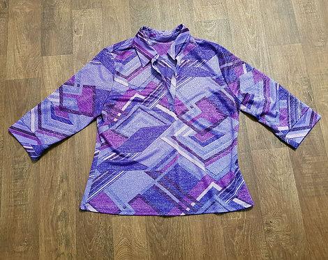 Vintage Blouse | 1970s Lurex Top | Vintage Clothing | 1970s Fashion