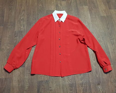Vintage Shirt   1980s Blouse   Vintage Clothing   80s Style