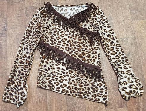 Vintage Tops   Animal Print Top   Vintage Clothing   Fringed Top